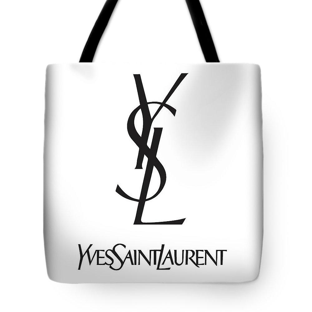 be69f904 Yves Saint Laurent Tote Bag featuring the digital art Yves Saint Laurent -  Ysl - Black