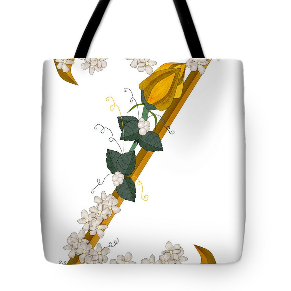 Z Tote Bag featuring the painting Z Is For Zest For Living by Anne Norskog
