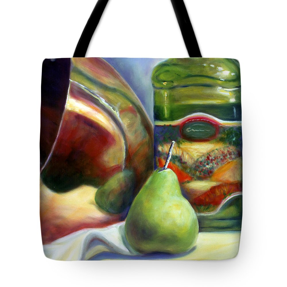 Copper Vessel Tote Bag featuring the painting Zabaglione Pan by Shannon Grissom