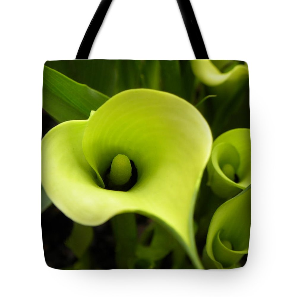 Nature Tote Bag featuring the photograph Calla Lilies by Shannon Turek