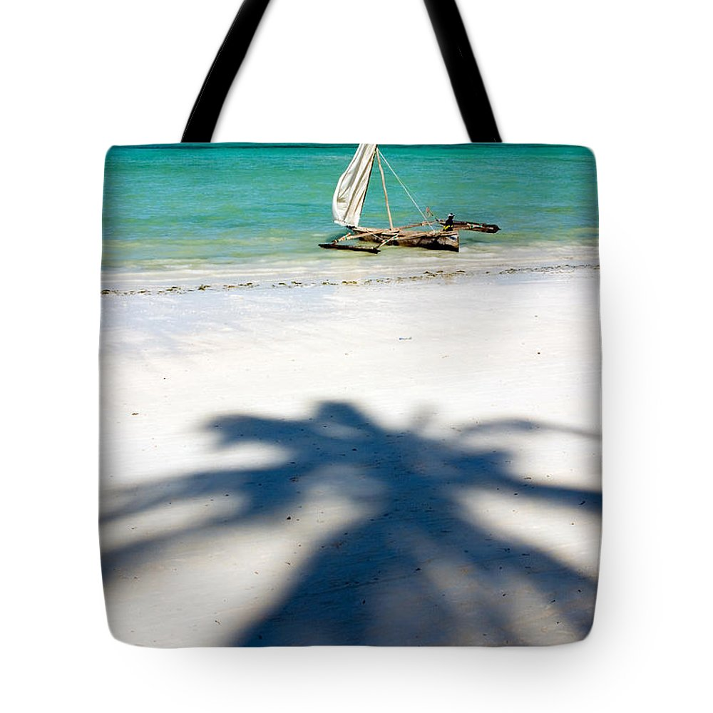 3scape Tote Bag featuring the photograph Zanzibar Beach by Adam Romanowicz