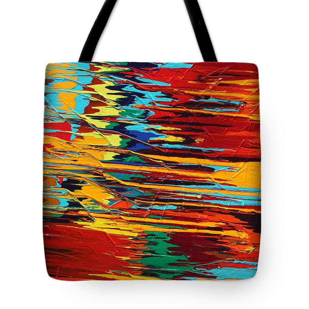 Fusionart Tote Bag featuring the painting Zap by Ralph White