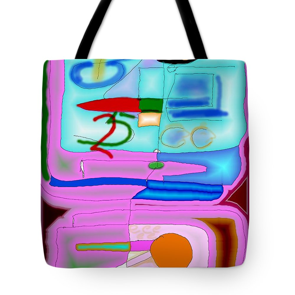 Zapp Tote Bag featuring the digital art Zapp by Helmut Rottler