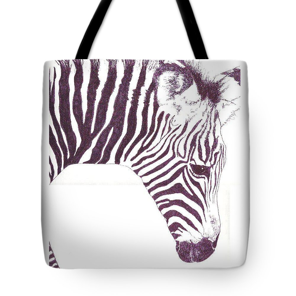 Zebra Tote Bag featuring the painting Zebra Colt by Debra Sandstrom