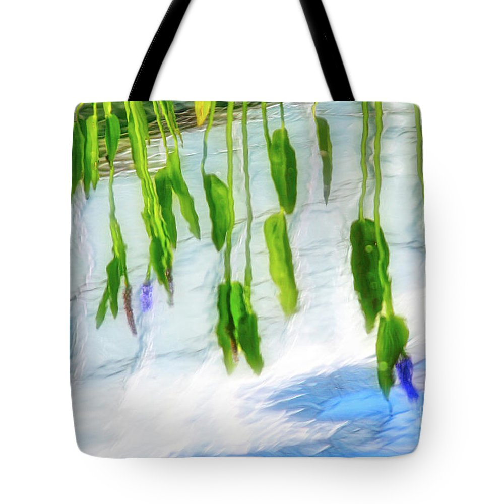 Water Lily Tote Bag featuring the photograph Zen Reflection by Karin Everhart