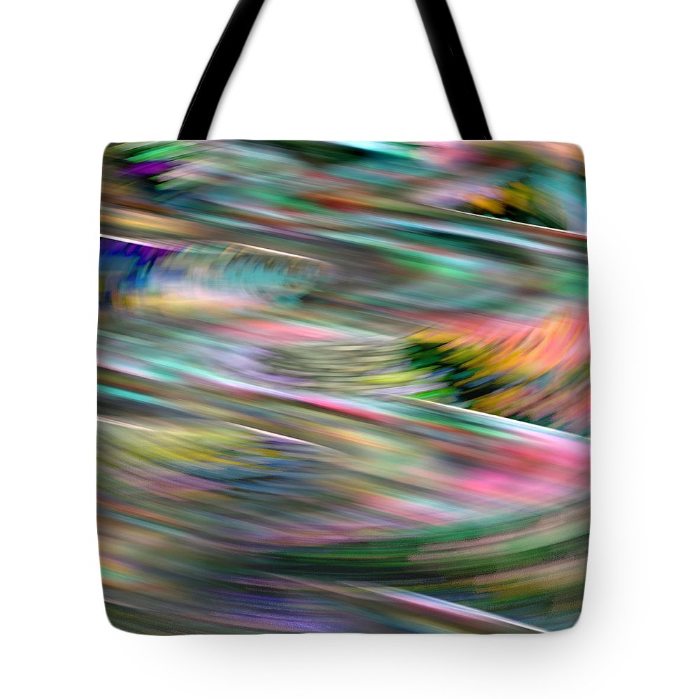 Abstract Tote Bag featuring the digital art Zig Zag Serpentine by James Estes