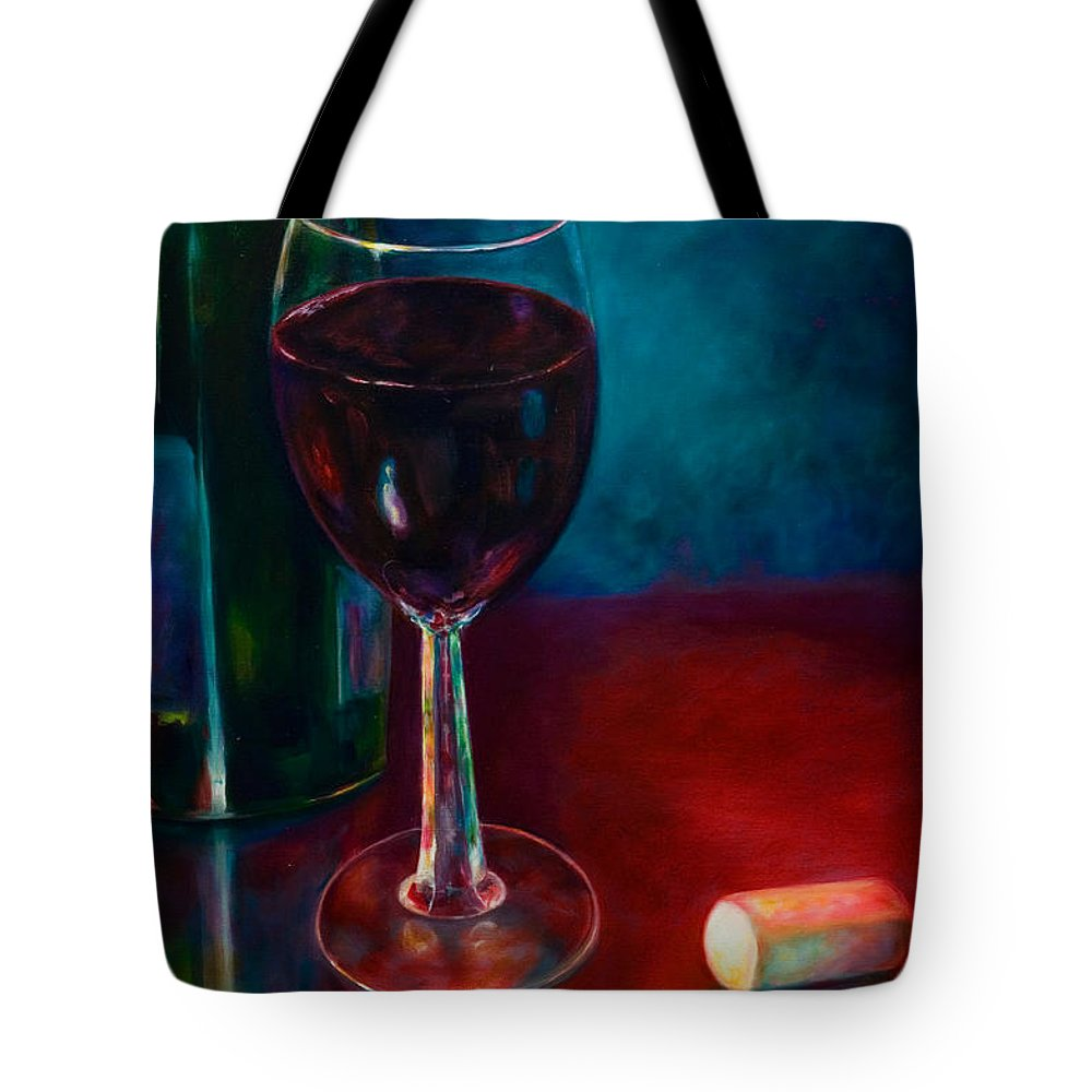 Wine Bottle Tote Bag featuring the painting Zinfandel by Shannon Grissom