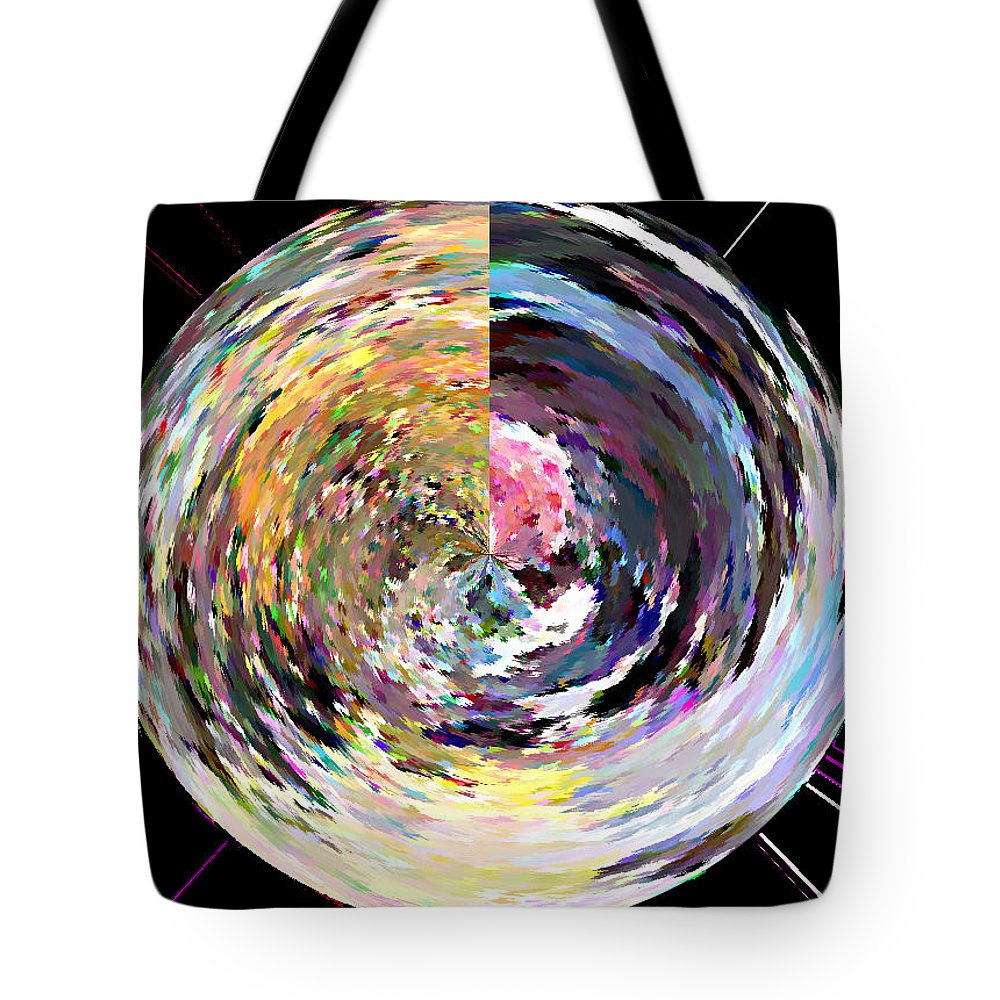 Digital Tote Bag featuring the painting Zing by Anil Nene