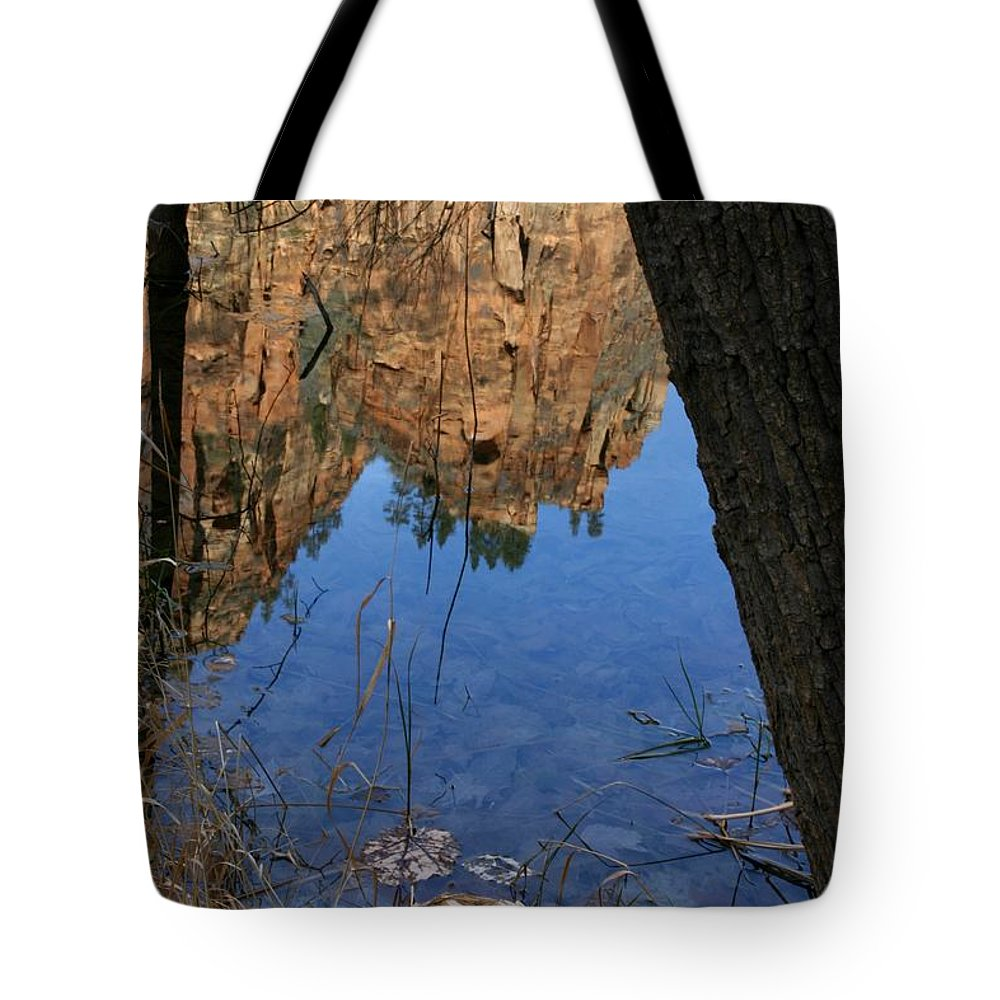 Zion Tote Bag featuring the photograph Zion Reflections by Nelson Strong