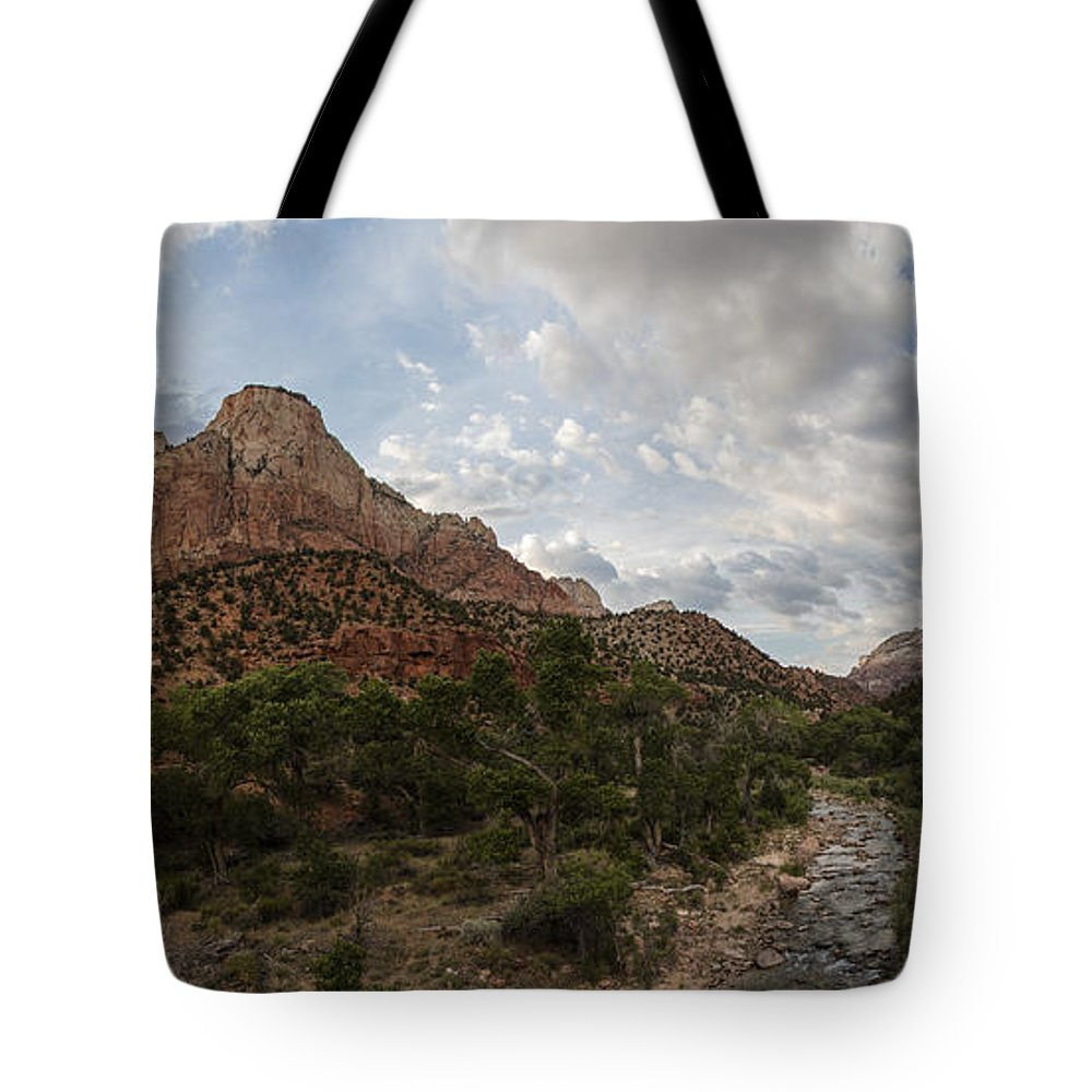 Zion National Park Tote Bag featuring the photograph Zion Sunset by John McGraw