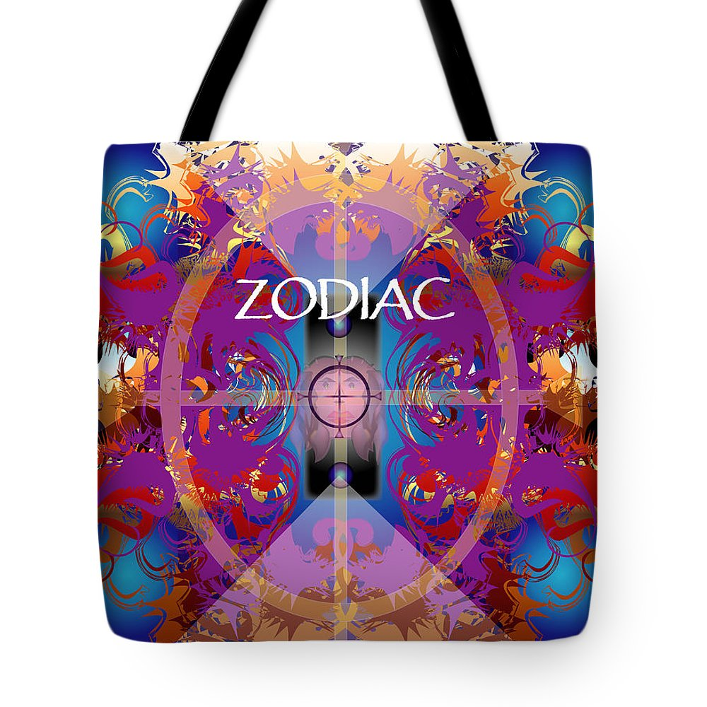 Abstaract Tote Bag featuring the digital art Zodiac 2 by George Pasini
