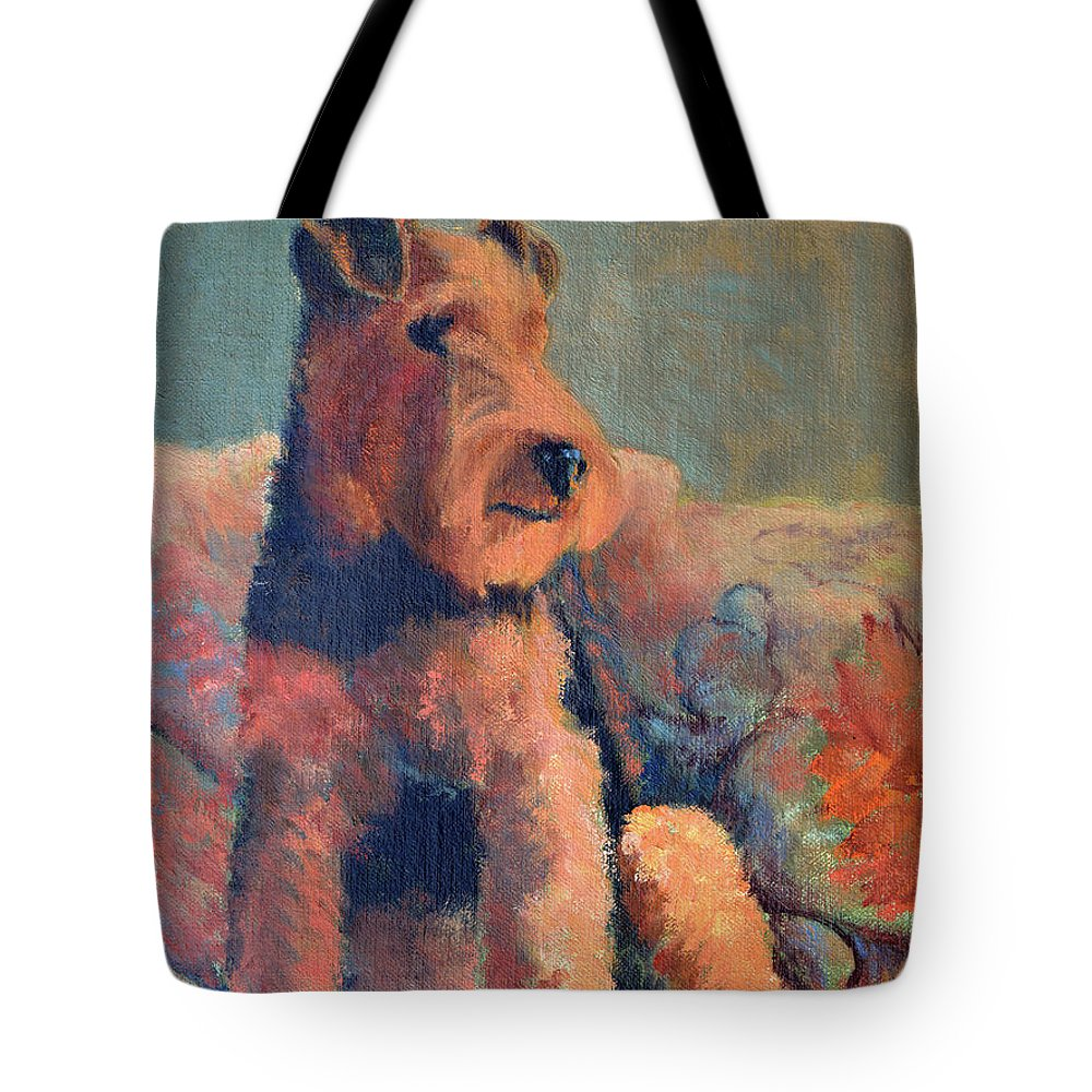Pet Tote Bag featuring the painting Zuzu by Keith Burgess