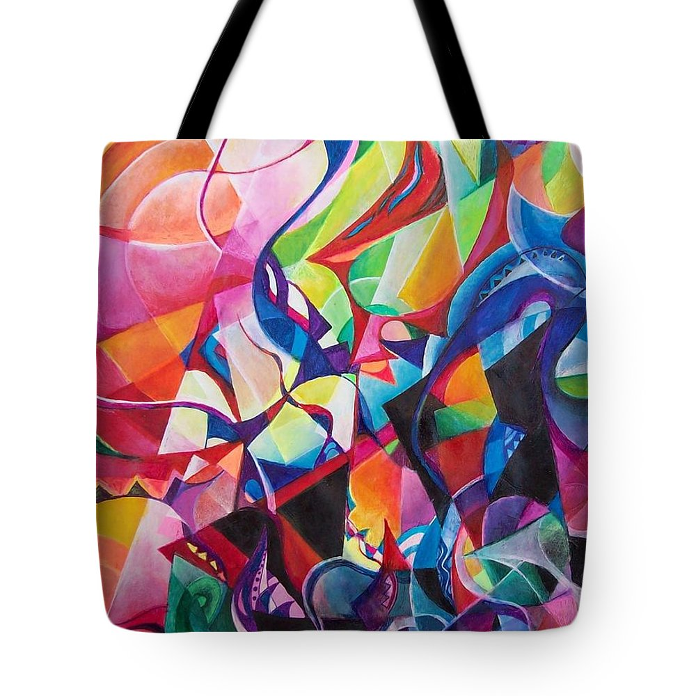 Viktor Tsoy Natali Russian Sun Light Tote Bag featuring the painting zvezda po imeni solnce A star called sun by Wolfgang Schweizer