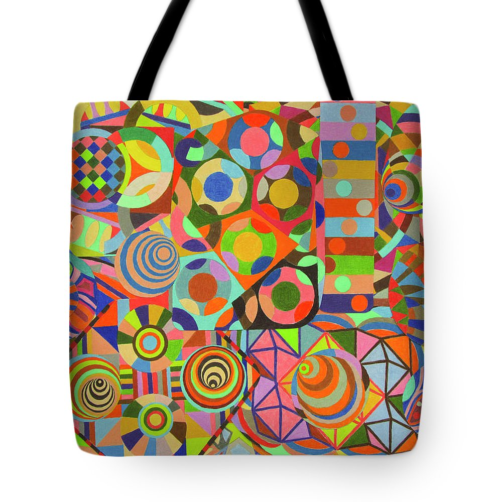 Fabric Pattern Tote Bag featuring the drawing ZW5 by Ruben Pena