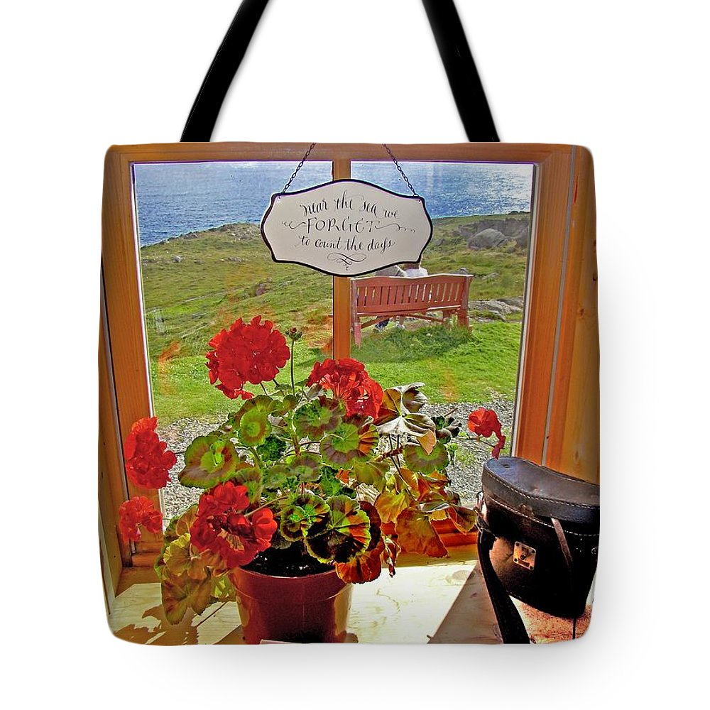 Ferryland Tote Bag featuring the photograph 021 By The Sea by Werner Koehler