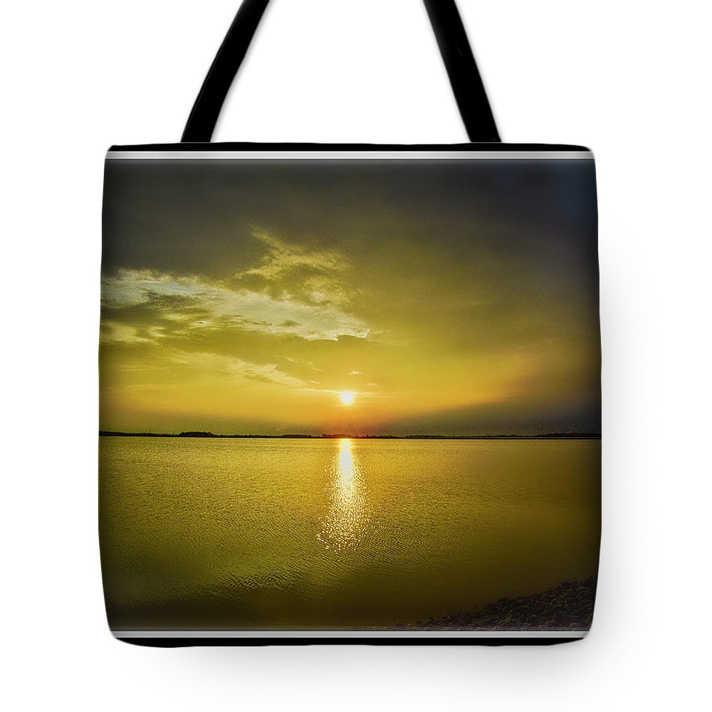 Sunset Tote Bag featuring the photograph 051819-1 by Mike Davis