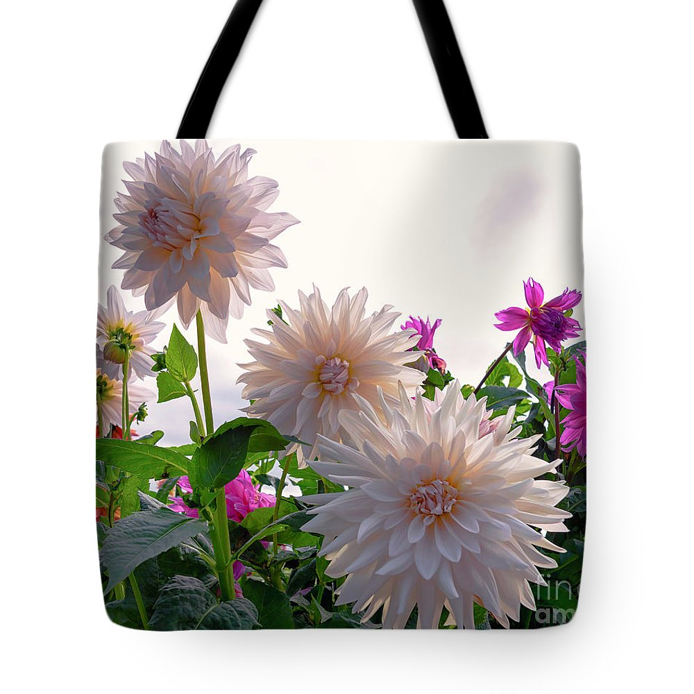 Annual Tote Bag featuring the photograph Among The Flowers by Joe Geraci