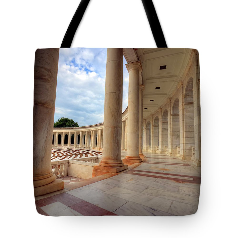 Craig Fildes Photography Tote Bag featuring the photograph Arlington National Cemetery Memorial Amphitheater by Craig Fildes