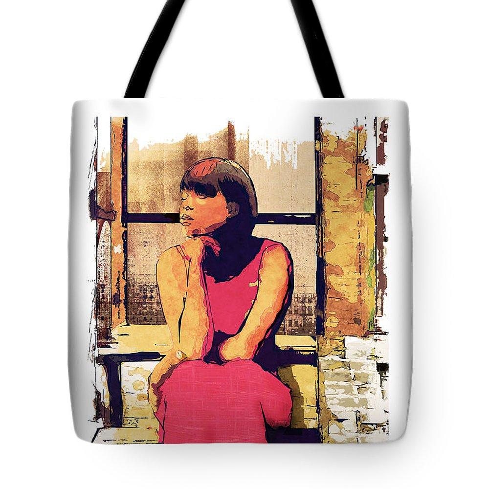 African American Tote Bag featuring the digital art At Peace by Regina Wyatt