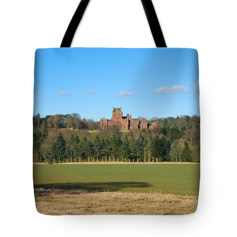 Ayton Tote Bag featuring the photograph Ayton Castle From South, Berwickshire by Victor Lord Denovan