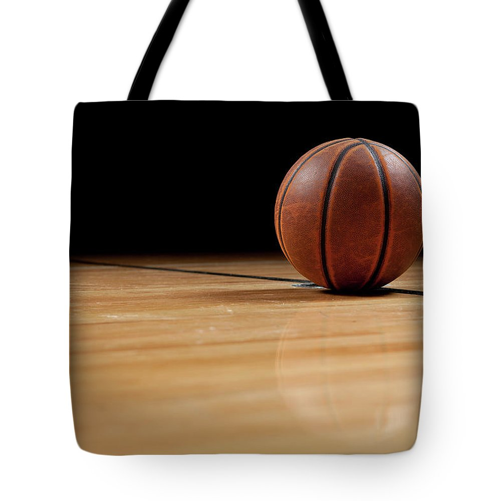 Ball Tote Bag featuring the photograph Basketball by Garymilner