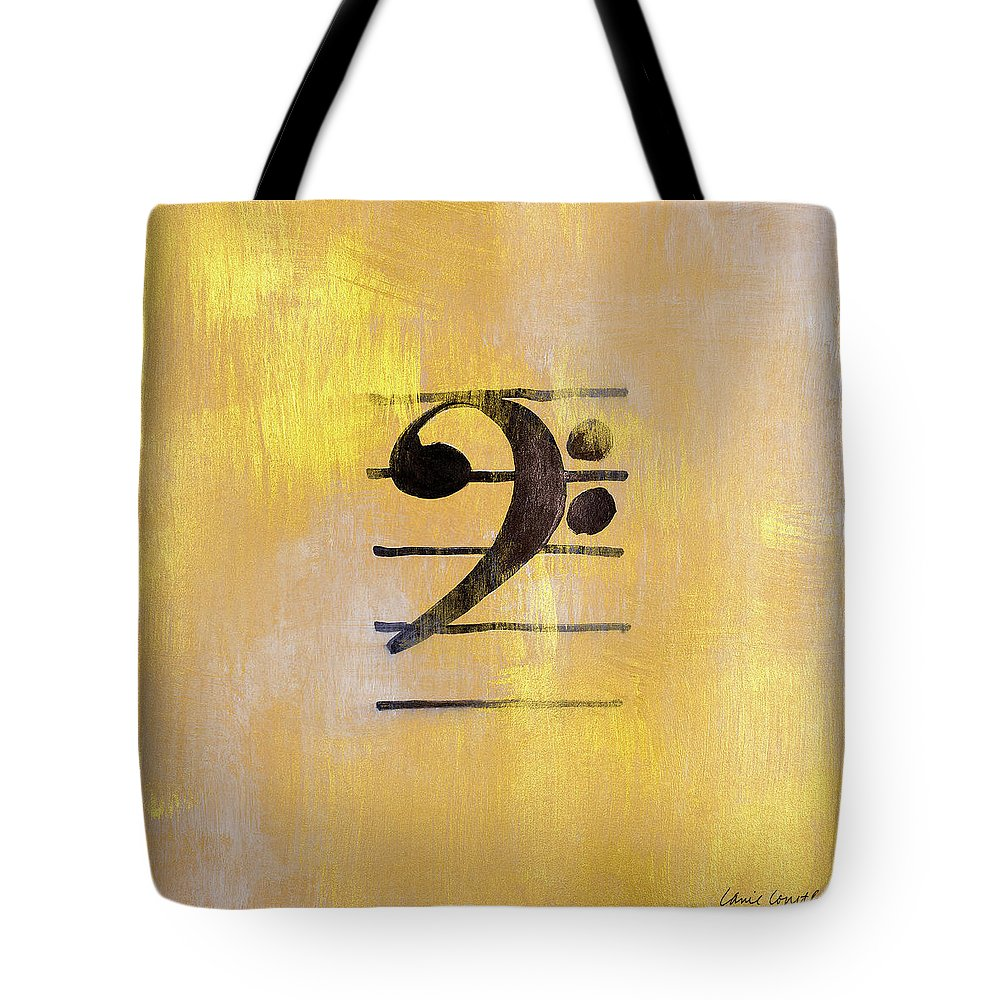 Bass Tote Bag featuring the painting Bass Clef by Lanie Loreth
