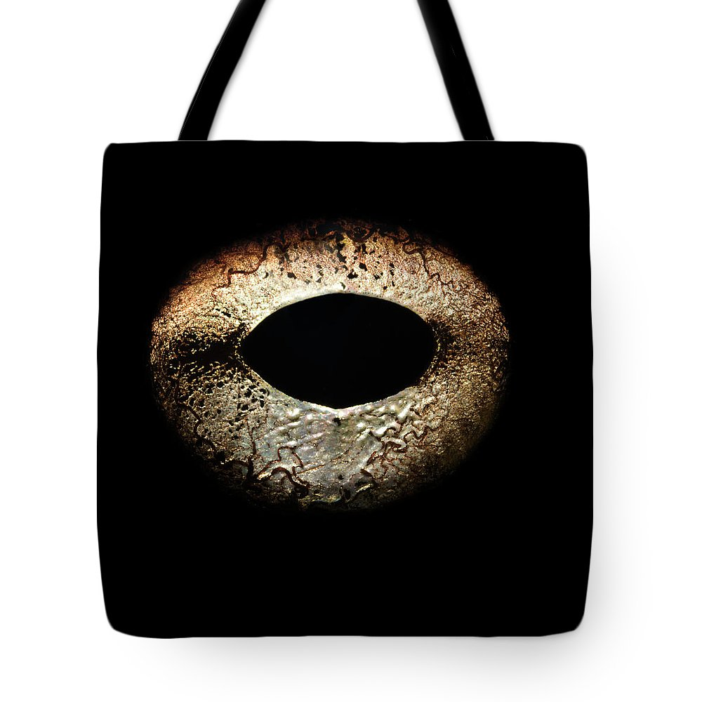 Eyesight Tote Bag featuring the photograph Bullfrogs Eye, Close-up by Jonathan Knowles