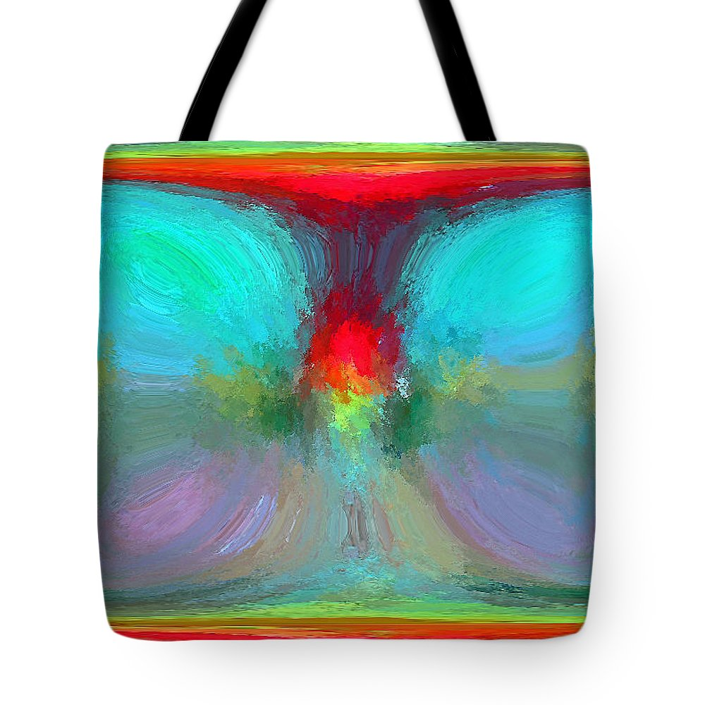 Tote Bag featuring the digital art Capturing The Day by Rein Nomm