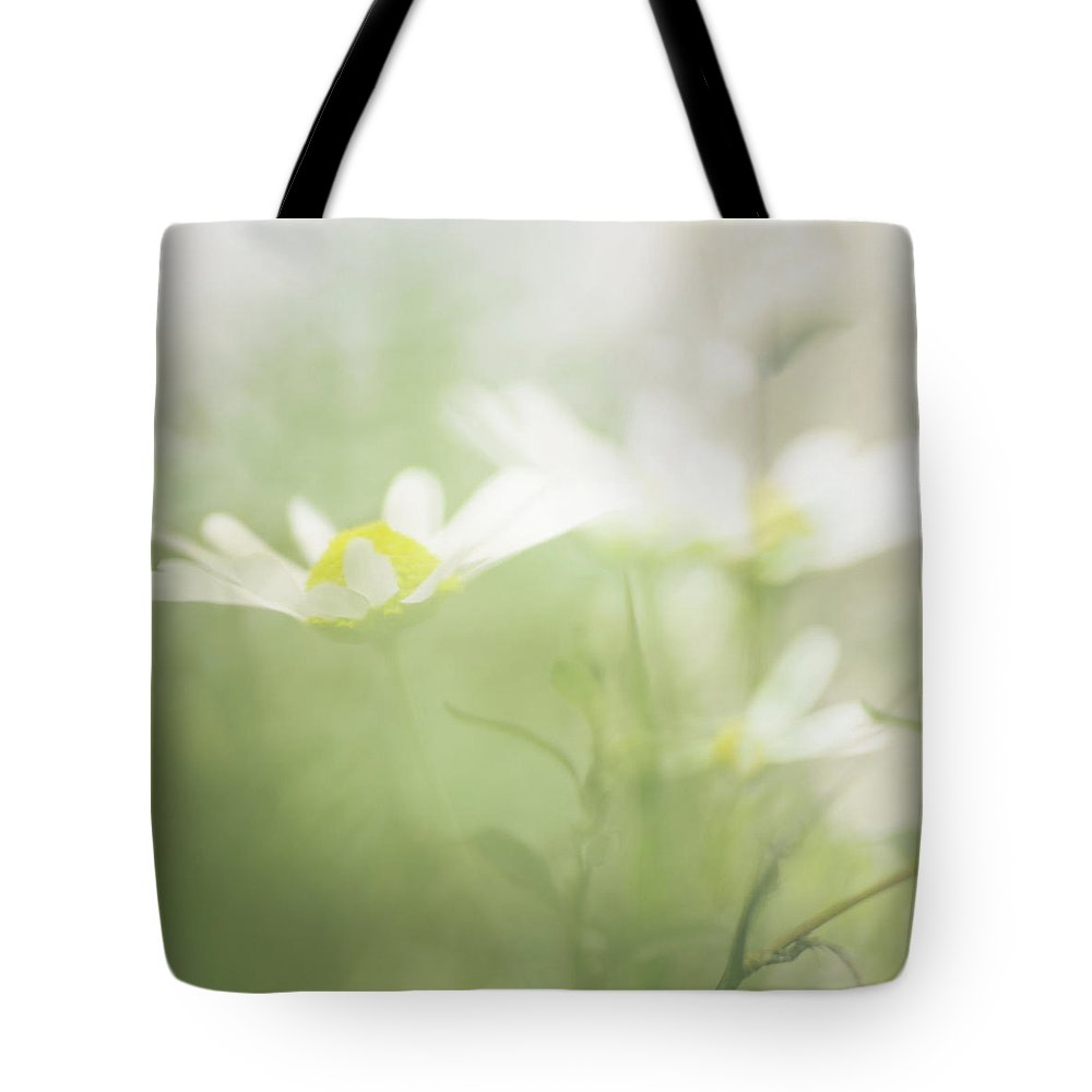 Flower Tote Bag featuring the photograph Daisies by Jo Stephen