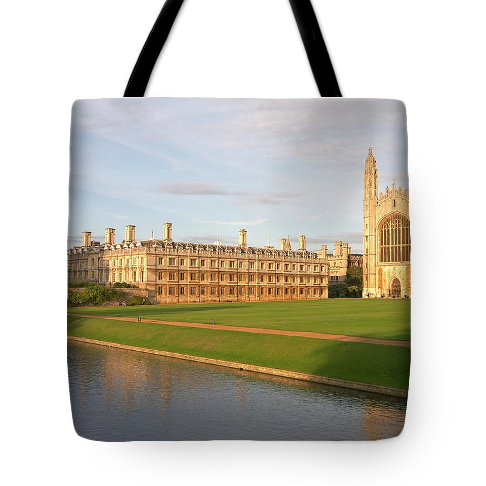 Shadow Tote Bag featuring the photograph England, Cambridge, Cambridge by Andrew Holt
