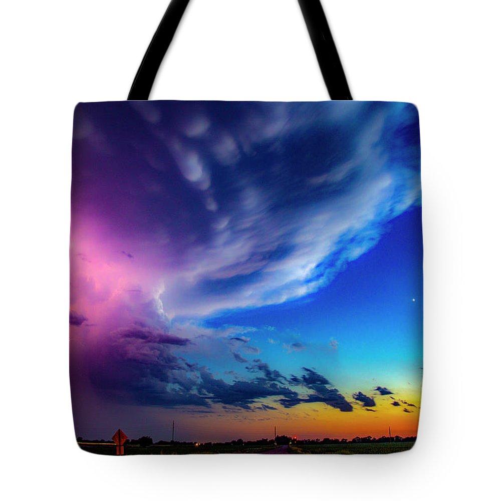 Nebraskasc Tote Bag featuring the photograph Epic Nebraska Lightning 007 by NebraskaSC