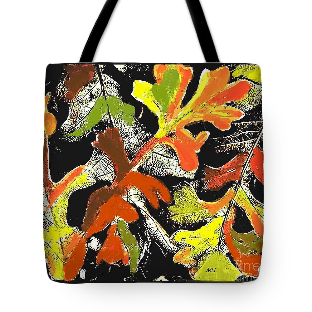 Photo Tote Bag featuring the photograph Fallen Leaves by Marsha Heiken