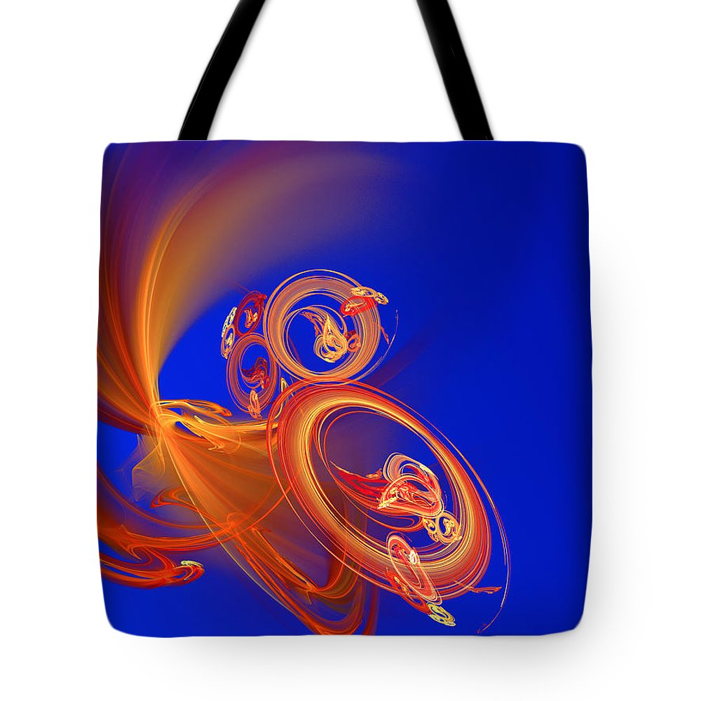 Motion Tote Bag featuring the digital art Frantic by Werner Hilpert