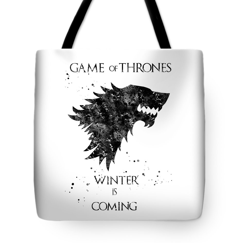 Game Of Thrones Tote Bag featuring the digital art Game Of Thrones by Erzebet S