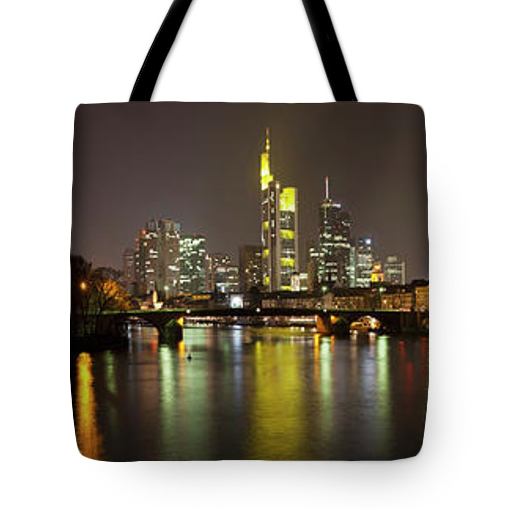 Panoramic Tote Bag featuring the photograph Germany, Frankfurt, View Of City At by Westend61