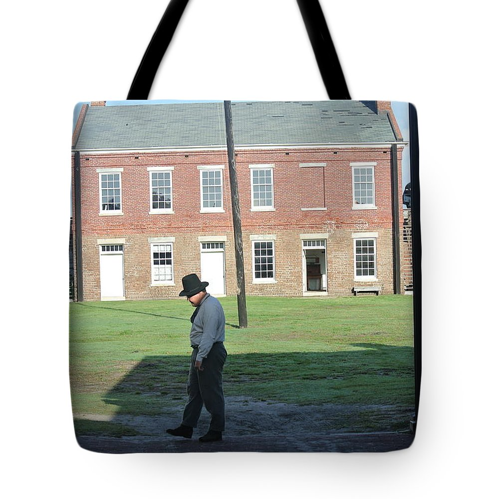 Soldier Tote Bag featuring the photograph Guard Duty by Colleen Braun