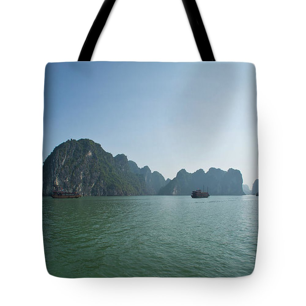 Scenics Tote Bag featuring the photograph Ha Long Bay by By Thomas Gasienica