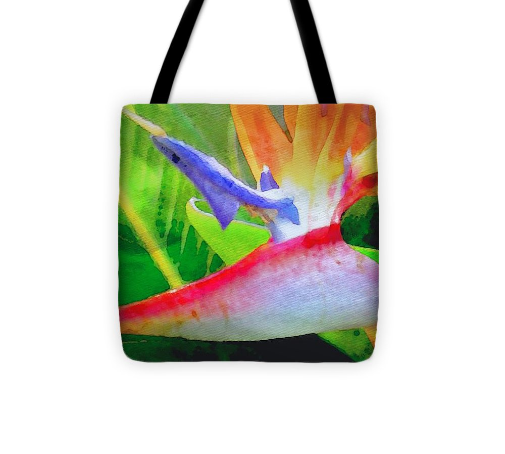 Bird Of Paradise Tote Bag featuring the digital art Natural High by James Temple