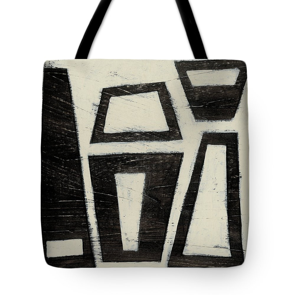 Abstract Tote Bag featuring the painting Hieroglyph Vii by June Erica Vess