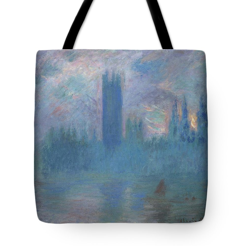 1900-1901 Tote Bag featuring the photograph Houses Of Parliament, London by Peter Barritt