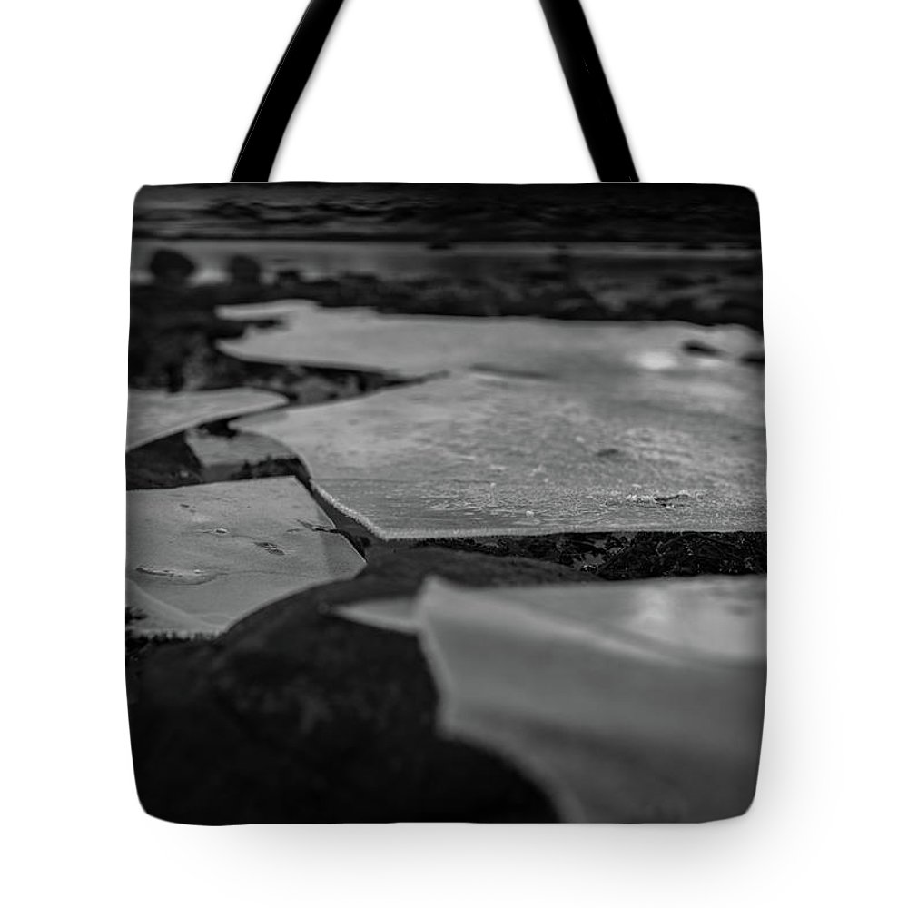 Norway Tote Bag featuring the photograph Ice Layer On The Seafloor by Kai Mueller
