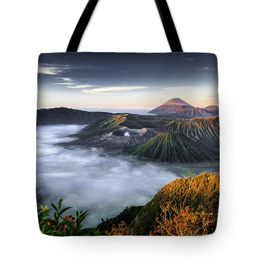 Scenics Tote Bag featuring the photograph Indonesia Mount Bromo by Frederic Huber Photography