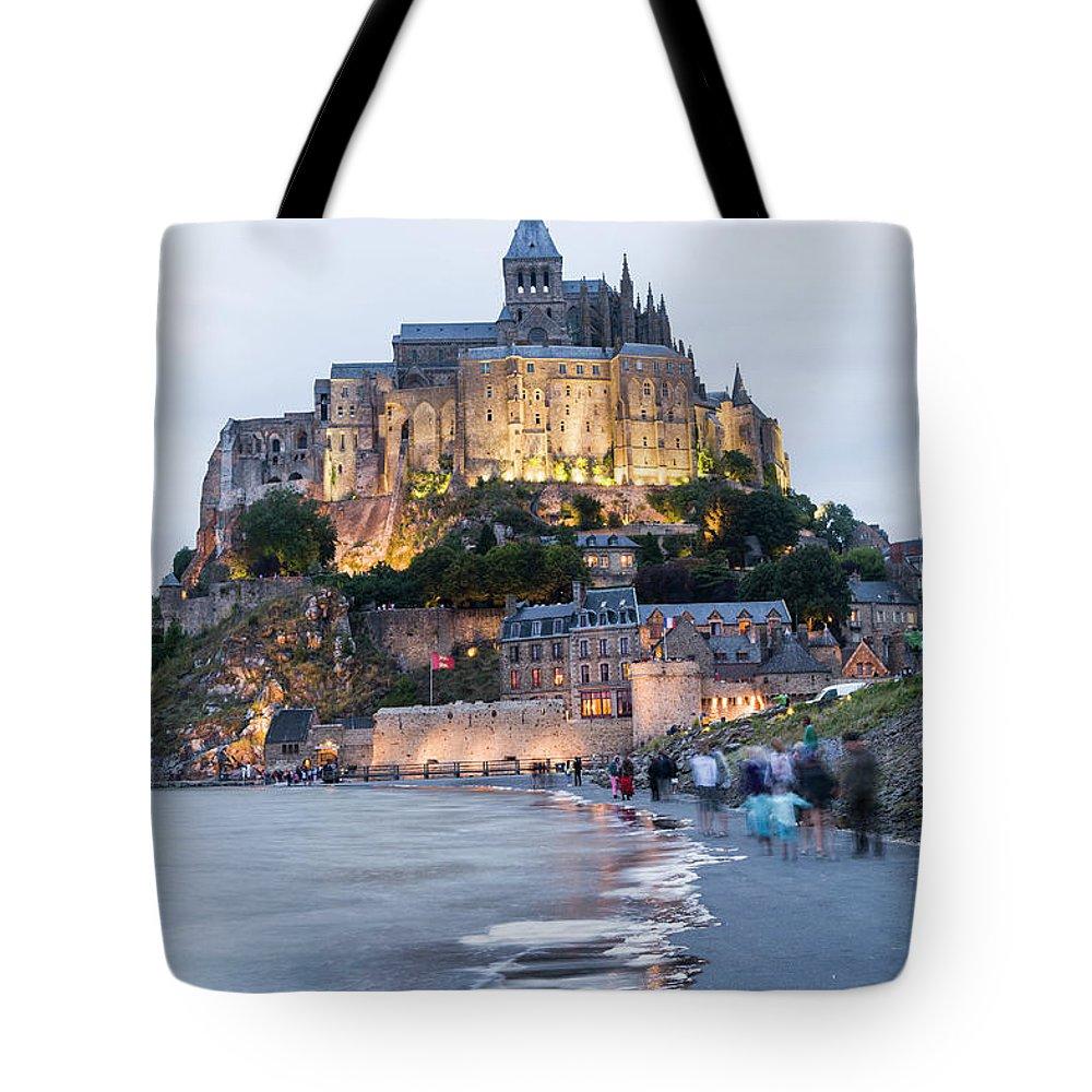 Mont Saint-michel Tote Bag featuring the photograph Le Mont Saint Michel, Normandy, France by John Harper