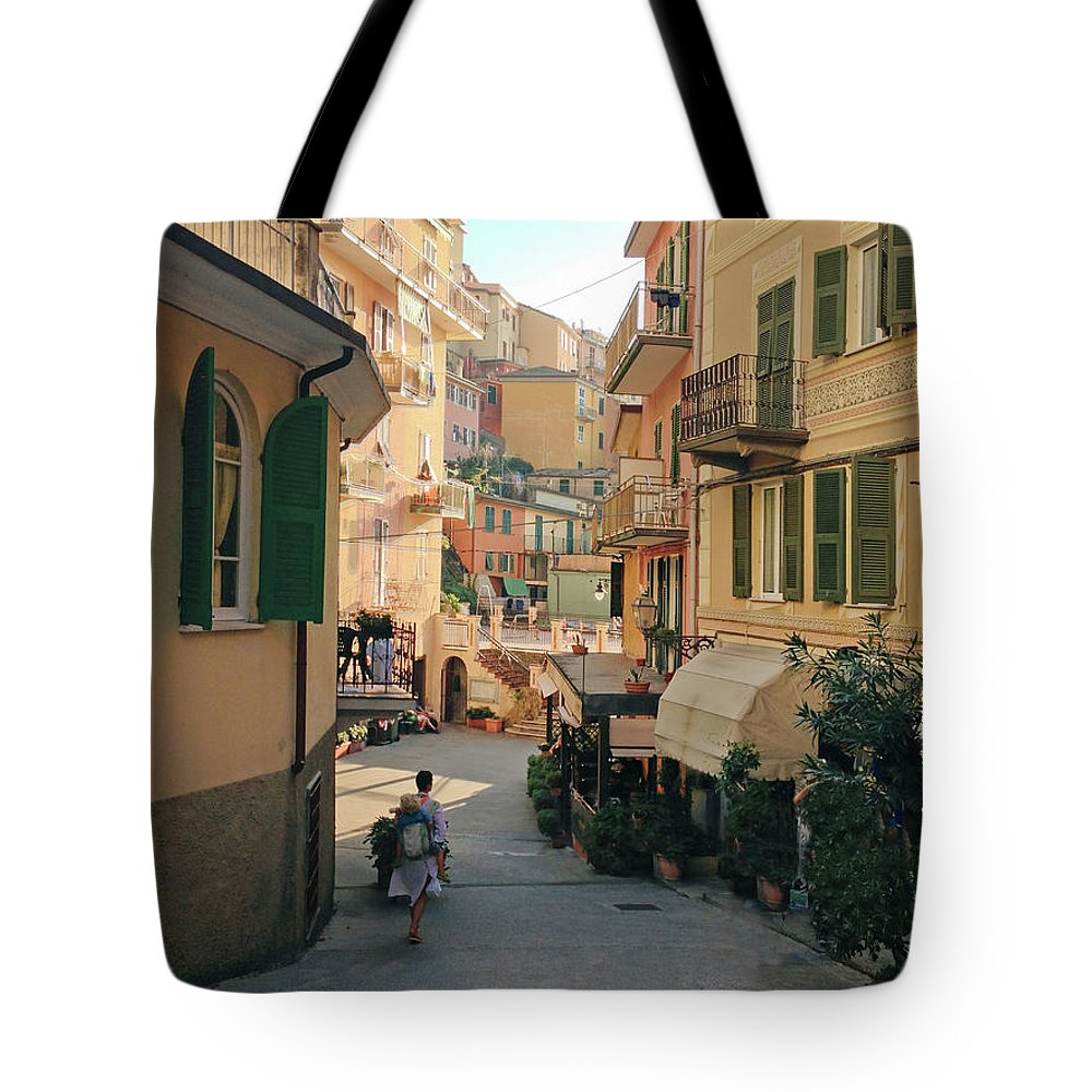 Toddler Tote Bag featuring the photograph Manarola Italy by M Swiet Productions