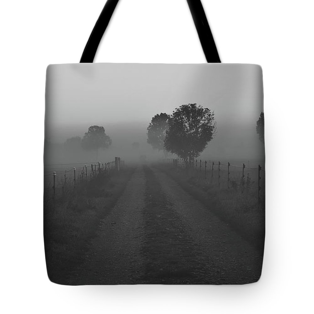 Sunrise Tote Bag featuring the photograph Morning Mist by Pixabay