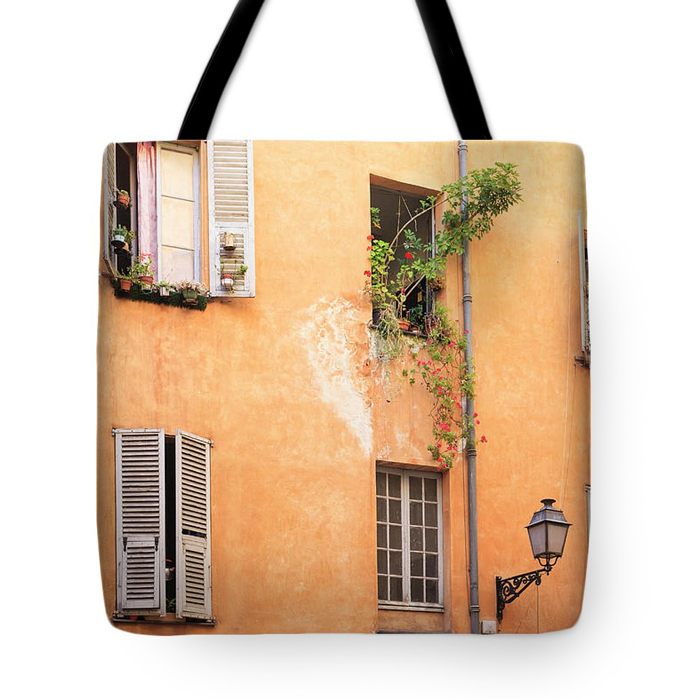 Orange Color Tote Bag featuring the photograph Old Town Of Nice, French Riviera, France by Aprott