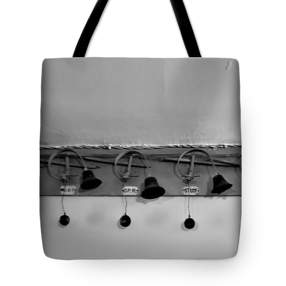 Bell Tote Bag featuring the photograph Peacefield Bell System by Rob Hans