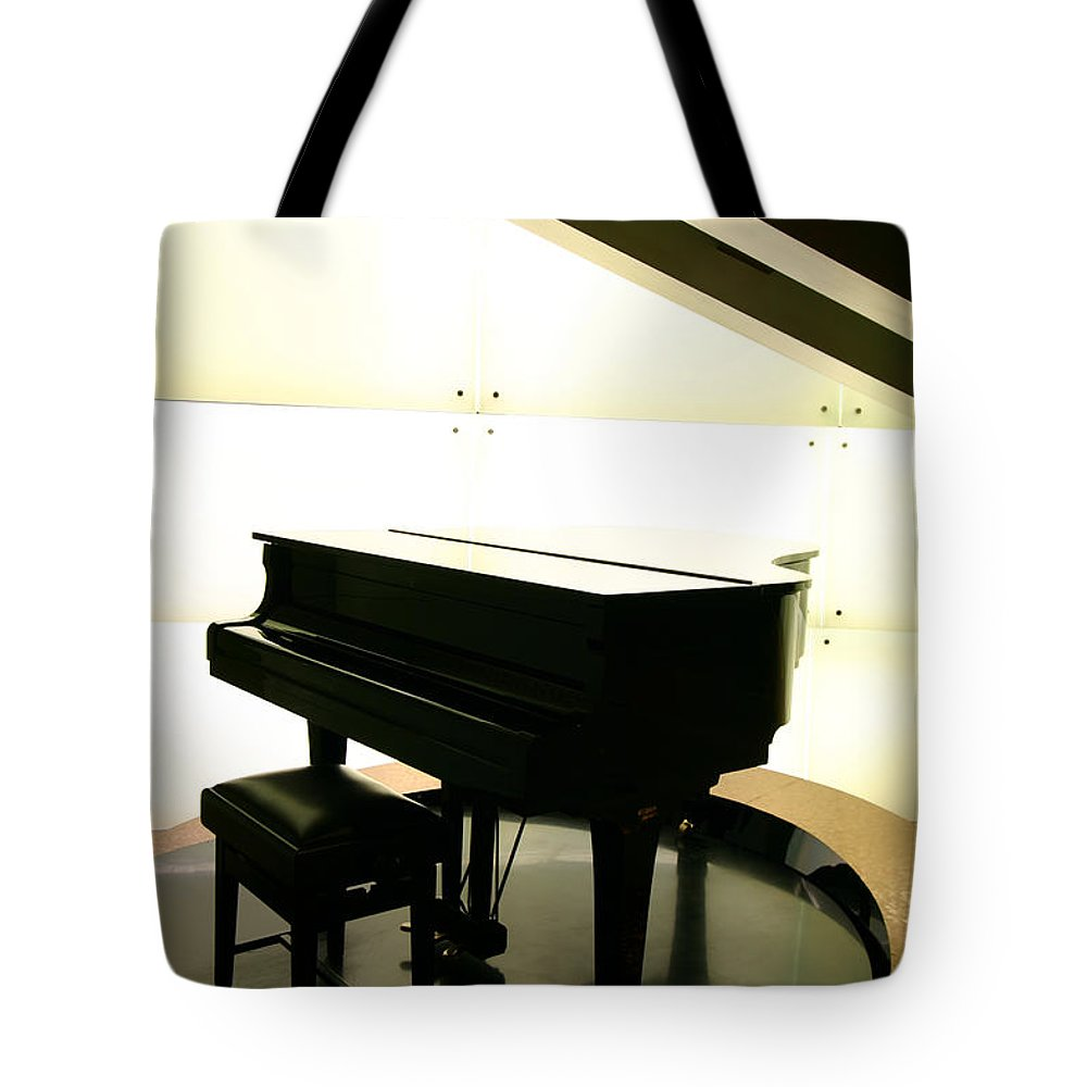 Piano Tote Bag featuring the photograph Piano by Peterhung101