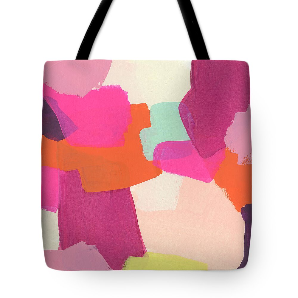 Abstract Tote Bag featuring the painting Pink Slip II by June Erica Vess