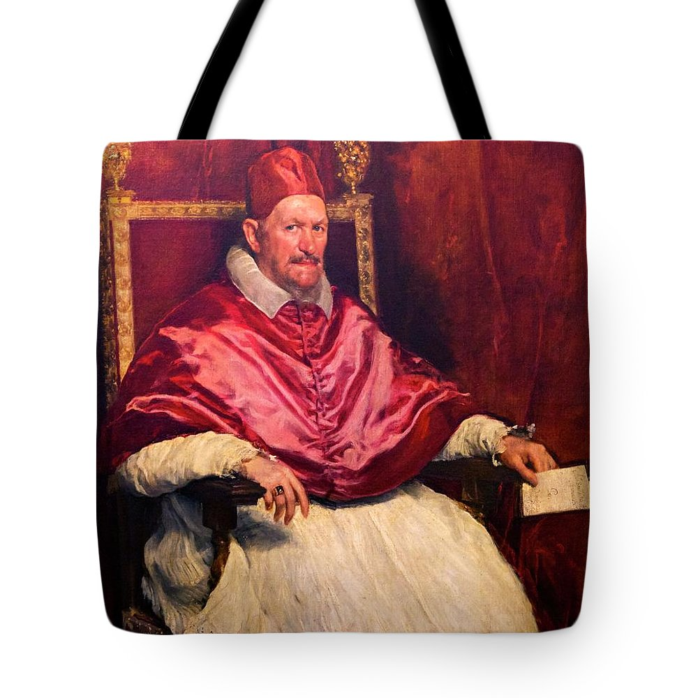 1650 Tote Bag featuring the photograph Pope Innocent X by Peter Barritt